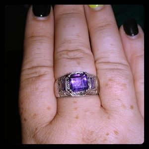 Jewelry - Sterling silver and Amethyst Ring.
